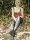 Art of Pantyhose - Anna in black pantyhose wandering in the woods
