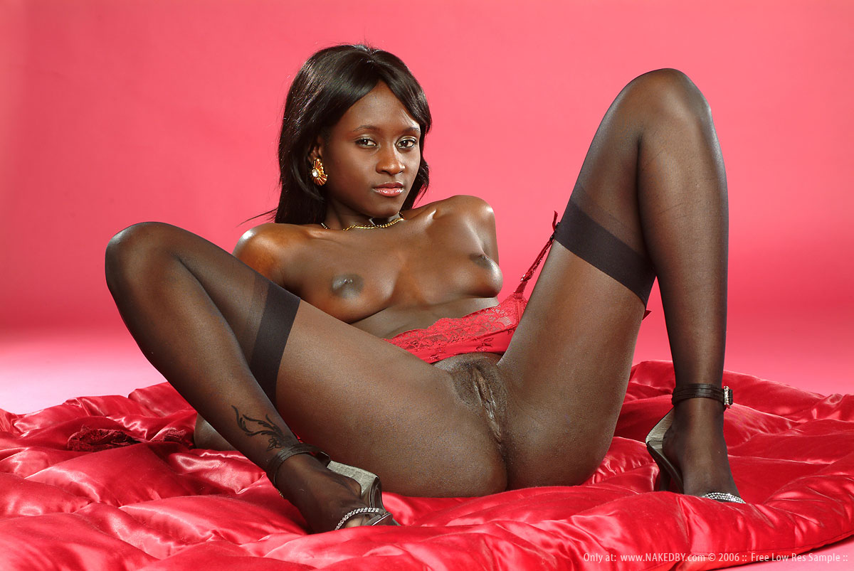 Sexy black girl high heels sex
