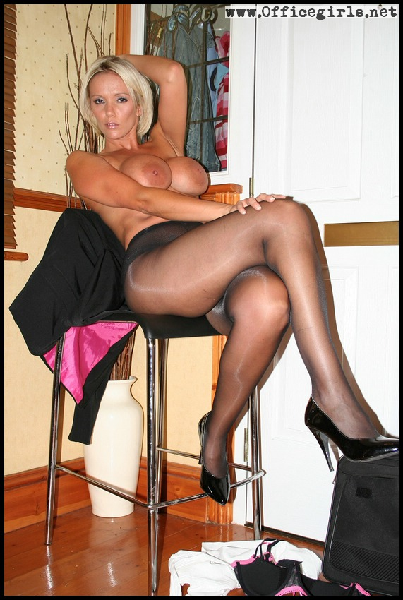 Must feel women in shiny pantyhose February